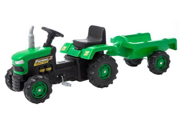 Traktor järelkäruga