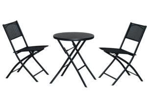 Kokkupandav komplekt laud + 2 tooli