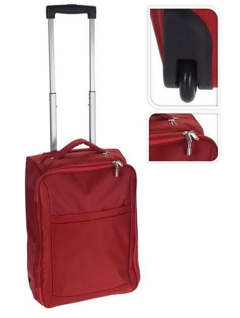 Kohver tekstiil punane