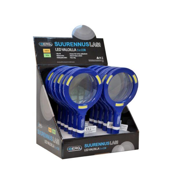 LED valgusega suurendusklaas 1W