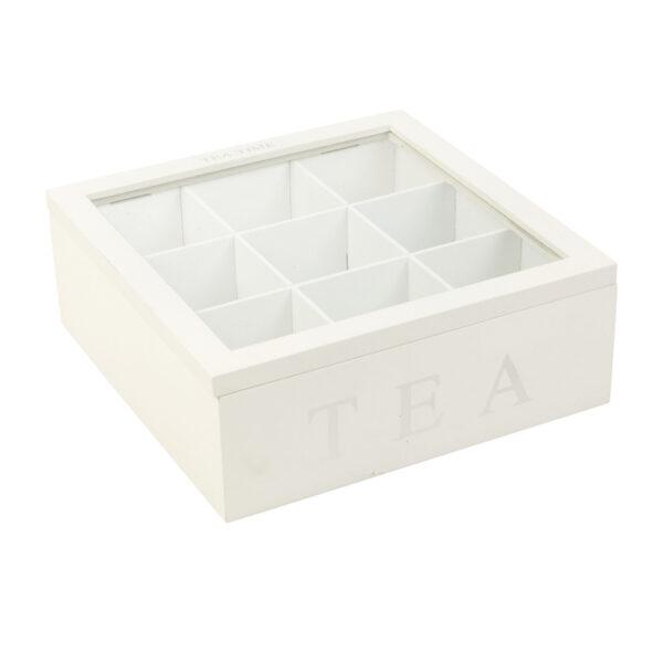 Teekarp puit 23 x 23 x 9cm 9 sahtlit