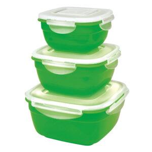 Säilituskarbid 3tk roheline
