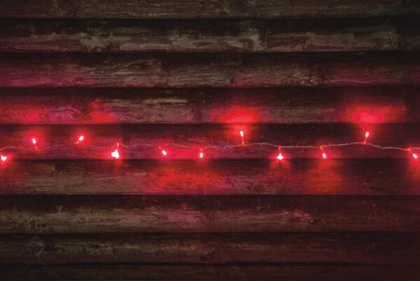Elektriküünlad 80 LED punane