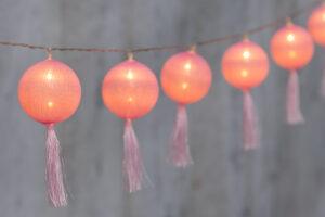 Elektriküünlad 10LED pallid roosa