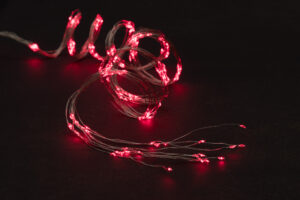 Elektriküünlad micro 200LED punane