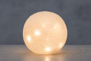 Klaaskuul 15cm LED valgusega
