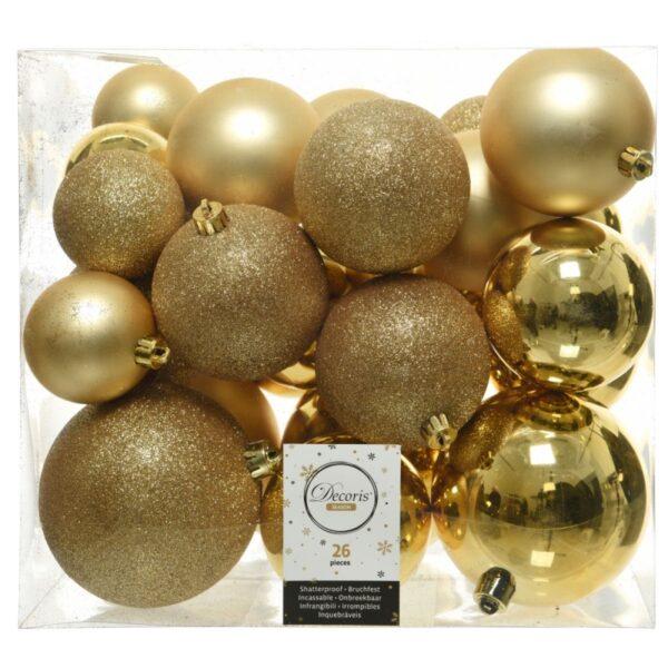 Kuuseehete komplekt mix 6-10cm kuldne