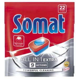 Nõudepesumasina tabletid Somat All in One Extra 22tk