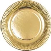 Papptaldrik 23cm 10tk kuld