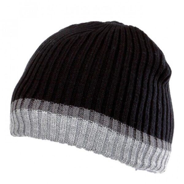 Meeste kootud müts LAHTI PRO must/triip