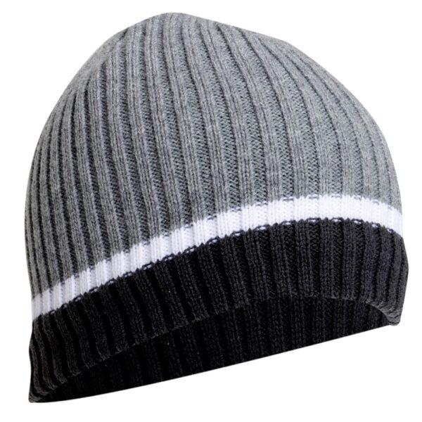 Meeste kootud müts LAHTI PRO hall/triip