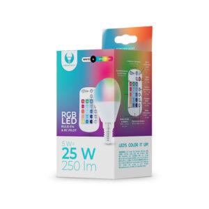 LED pirn 5W RGB puldiga E14