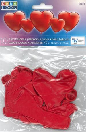 Õhupallid 10tk süda