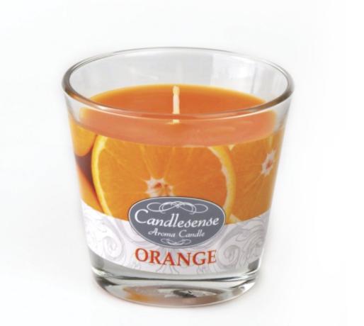 Lõhnaküünal klaasis 160g Apelsin