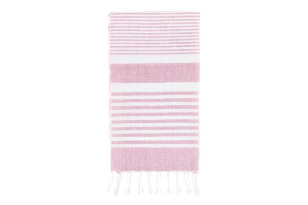Rannarätik roosa/valge 80 x 150cm