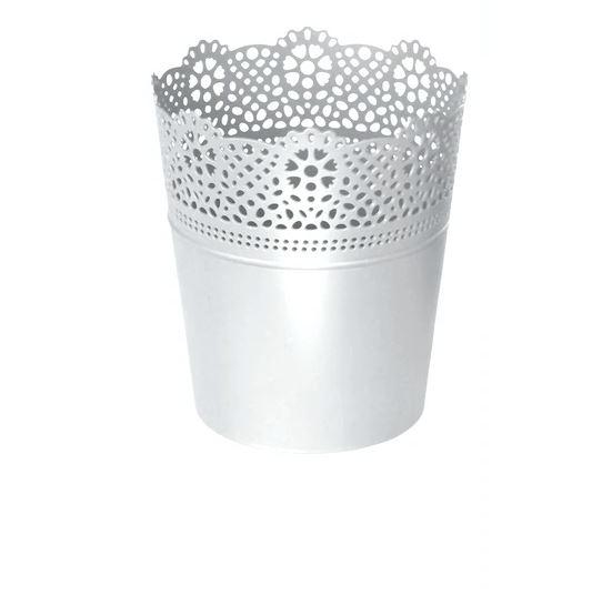 Lillepott plastikust valge