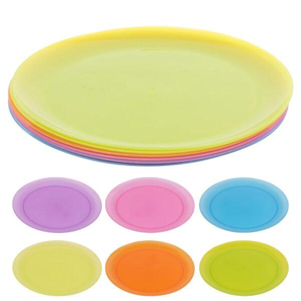 Plastikust taldrikud 6 tk