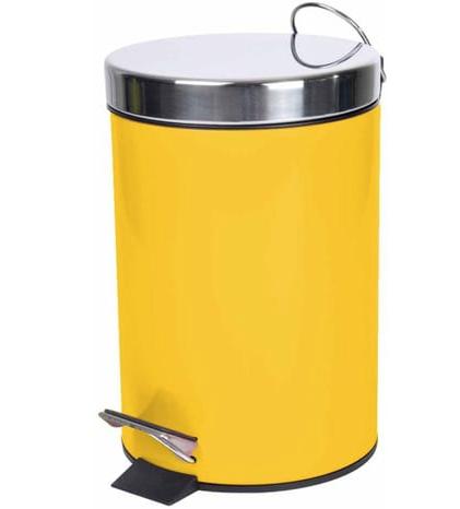Prügikast pedaaliga 3 L kollane