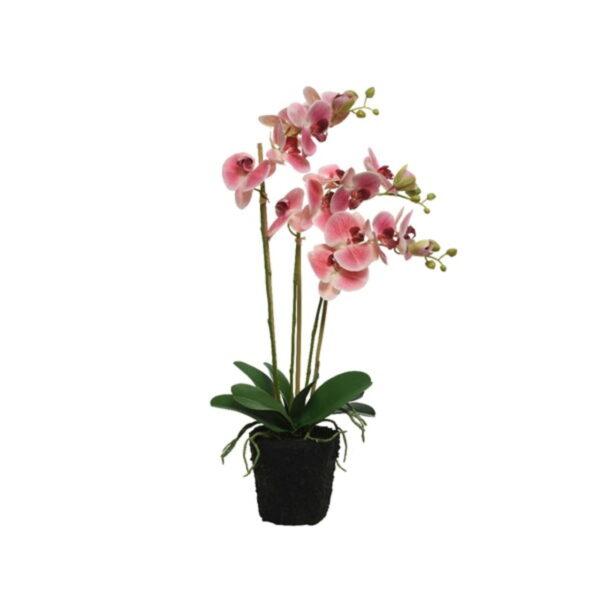 Kunstlill orhidee potis 62 cm