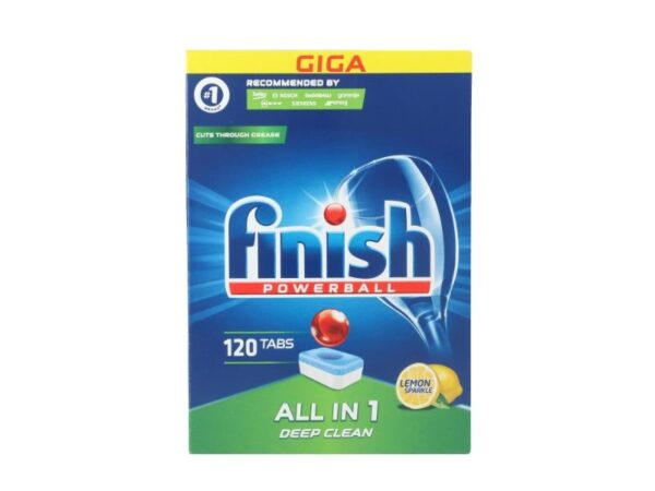 Nõudepesumasina tabletid Finish All in 1 Lemon 120tk