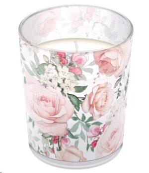 Küünal klaasis - roos