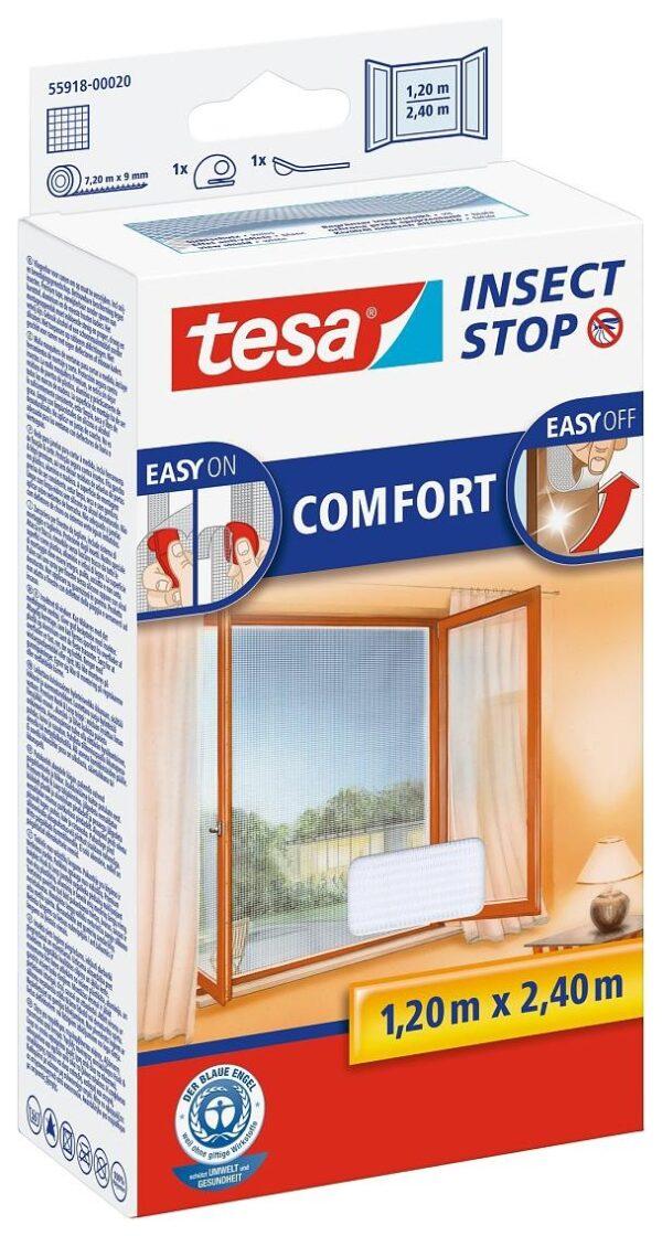 Tesa Putukavõrk aknale 1,2 x 2,4 cm valge