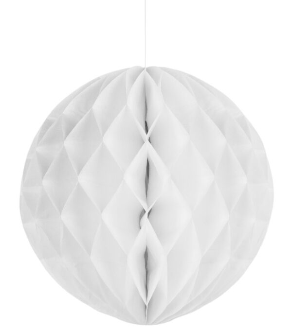 Kärgpall 25 cm valge