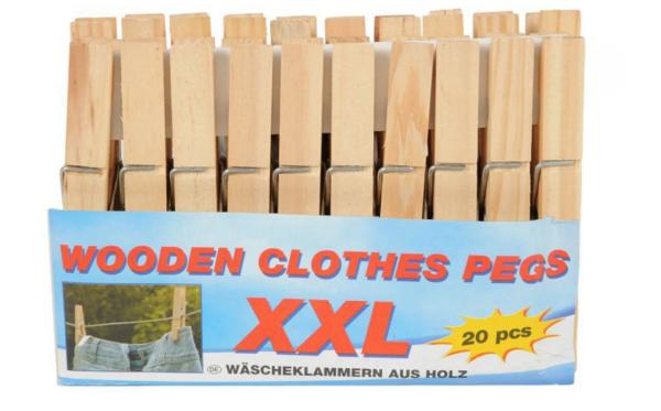 Pesulõksud puit XXL 20 tk