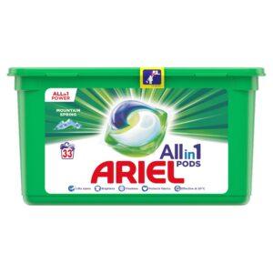Pesukapslid Ariel All in 1 Mountain Spring 33 tk