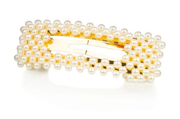 Juukseklamber pärlitega 8 cm Willkem
