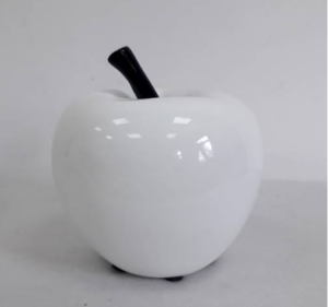 Dekoratsioon õun valge 12 cm