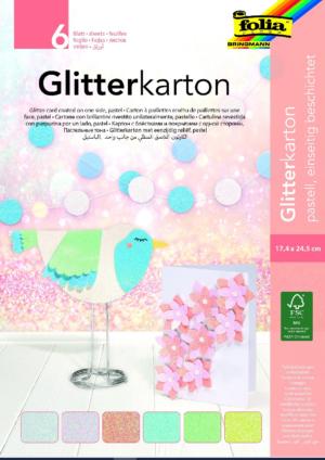 Käsitööpaber glitter 6 lk