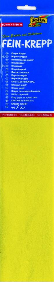 Krepppaber 50 cm x 2,5 m kollane