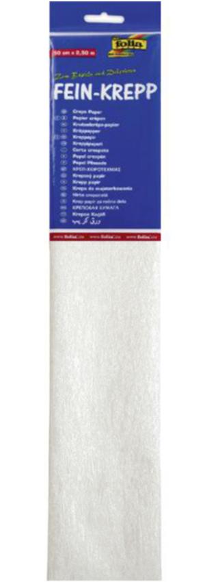 Krepppaber 50 cm x 2,5 m pärl