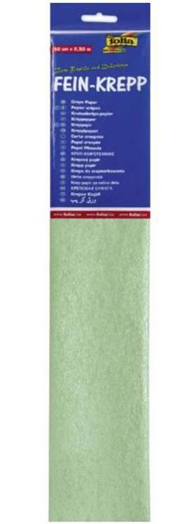 Krepppaber 50 cm x 2,5 m pastelne roheline