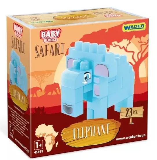 Klotsid elevant 23 tk