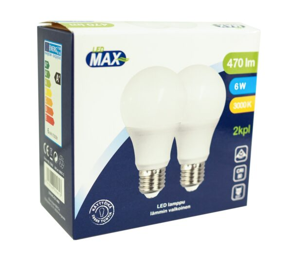 LED pirn A60 E27 6W 470lm