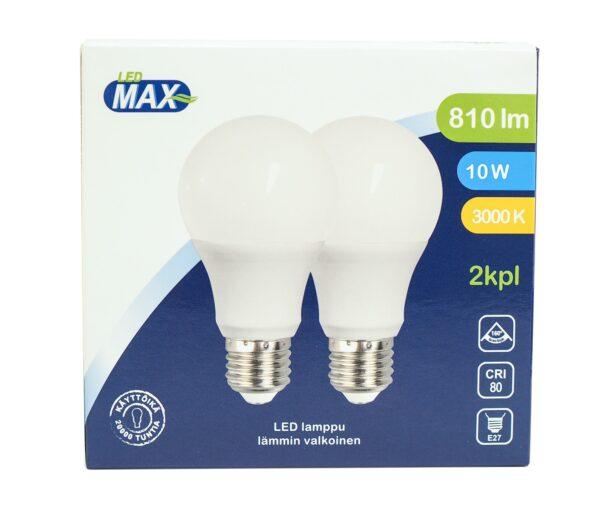 LED pirn A60 E27 10W 810lm