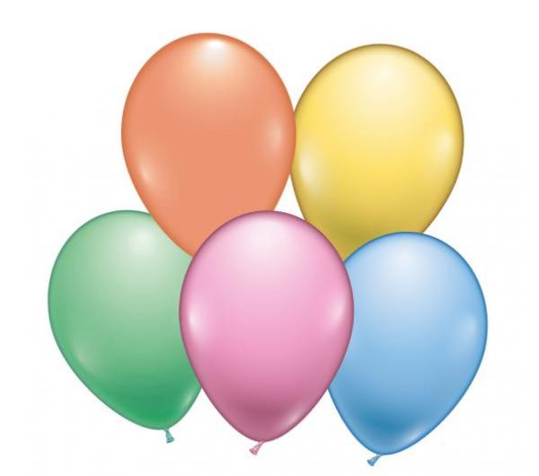 Õhupallid pastell 8 tk