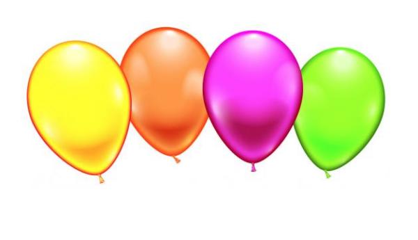 Õhupallid neoon 8 tk