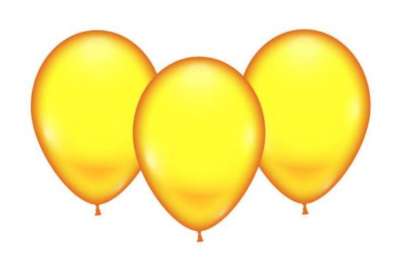 Õhupallid kollane 8 tk