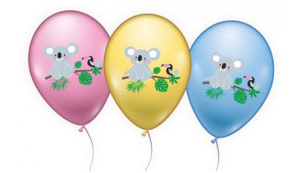 Õhupallid koaala 6 tk