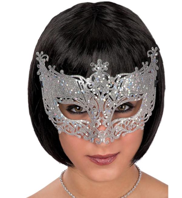 Mask hõbedane sädelev