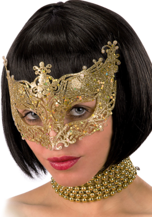 Mask kuldne sädelev