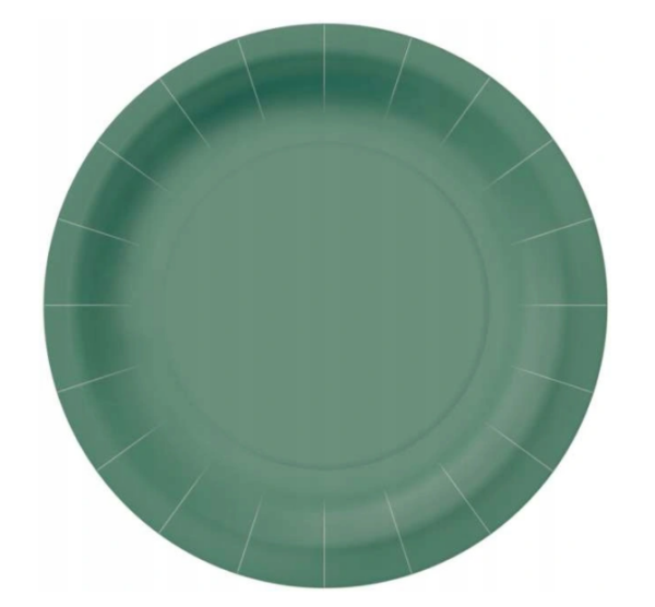 Papptaldrik Roheline 23 cm 10 tk