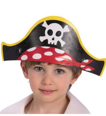 Pabermütsid piraat 6 tk