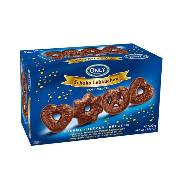 Piparkoogid piimašokolaadiga 500 g