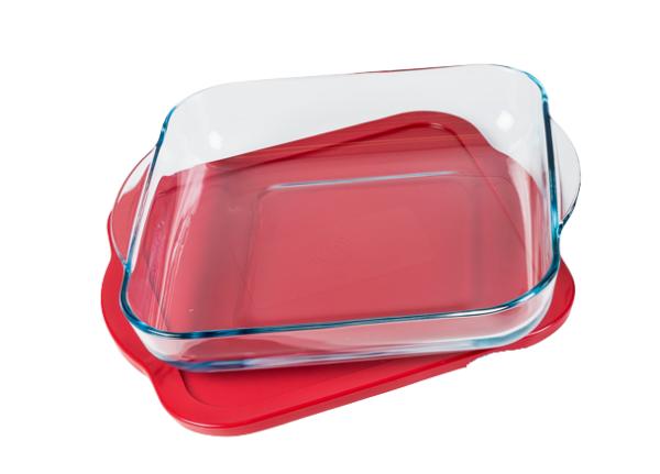 Klaasist ahjuvorm plastkaanega 3,3L